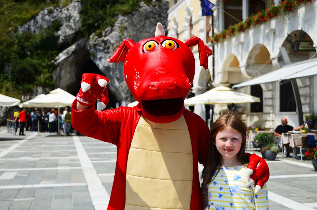 A Dragon outside Postojna cave
