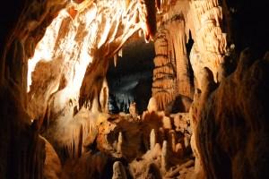 Calcite formations inside Postojna Cave