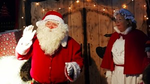 Santa and Mrs Claus at the Days of Christmas Past tour at Ulster American Folk Park