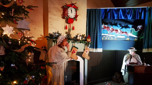 A visit to the School at the Days of Christmas Past tour at Ulster American Folk Park