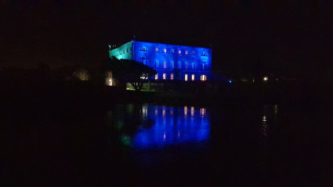 Westport House illuminated for Winter Wonderland