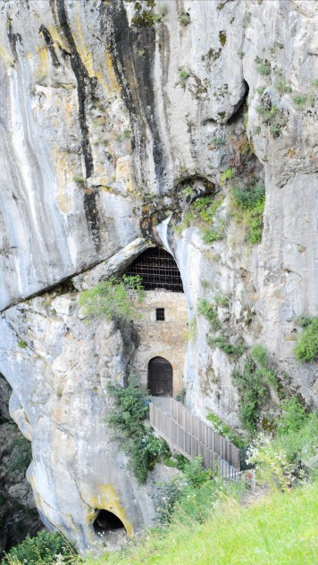 Secret exit at Predjama Castle, Slovenia