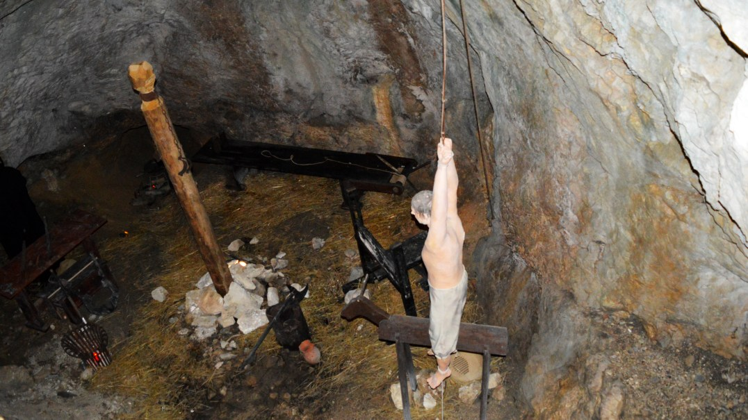 Torture chamber at Predjama Castle in Slovenia
