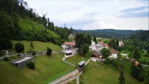 Panoramic views from Predjama Castle, Slovenia