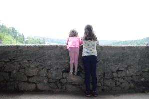 Looking over the battlefield at Predjama Castle, Slovenia
