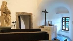St Anne's chapel inside Predjama Castle, Slovenia