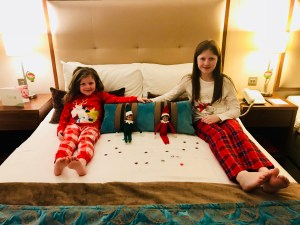 Jingles and Bobbles arrive at Hotel Westport