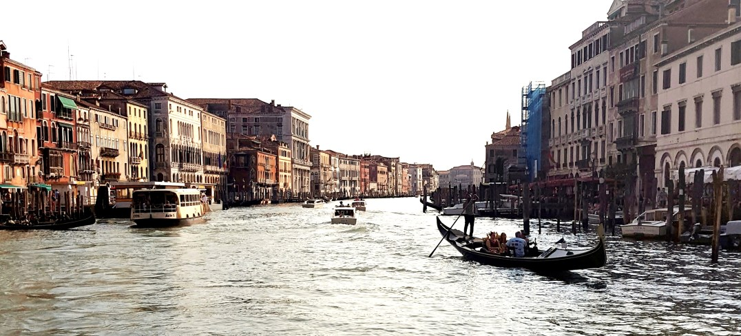 The Grand Canal of Venice by Water Bus