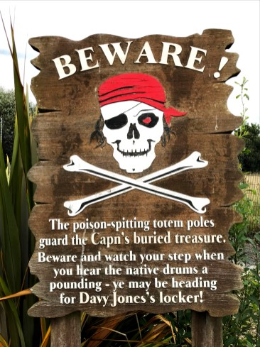 BEWARE - poison spitting totem poles at Pirates Adventure Golf