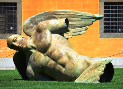 Angelo Caduto, or Fallen Angel by Igor Mitoraj