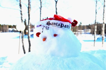 Snowman at A Cosy Cottage by the River in Rovaniemi