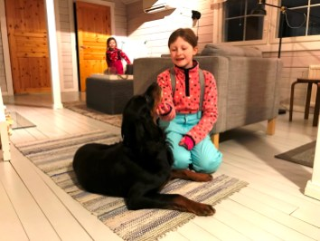 Lily-Belle and the pup at A Cosy Cottage by the River in Rovaniemi