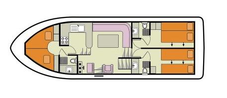 Le Boat Crusader layout