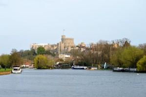 Windsor Castle on the River Thames in Berkshire