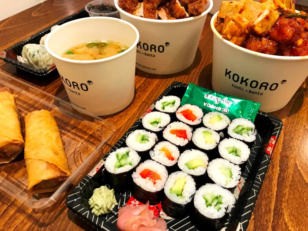 Sushi selection from Kokoro in Windsor