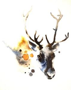 Reindeer art inside Holiday Suite Reindeer 204