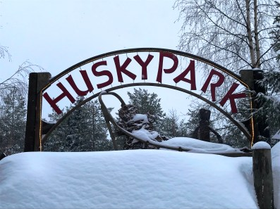 Husky Park at Santa Claus Village in Rovaniemi, Finnish Lapland