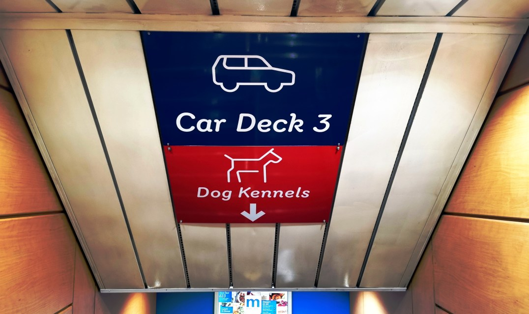 Kennels on board the Stena Line Superfast X