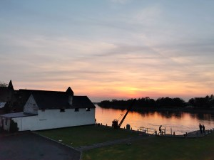 Sunset over Banagher Harbour on the River Shannon.