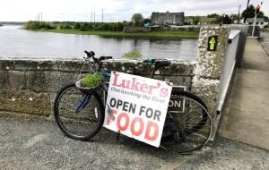 Luker's Bar in Shannonbridge overlooking the River Shannon