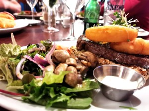 Steak sandwich at Cox's Steakhouse in Roosky by the River Shannon
