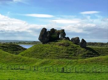 Clonmcnoise Castle ruins on the motte