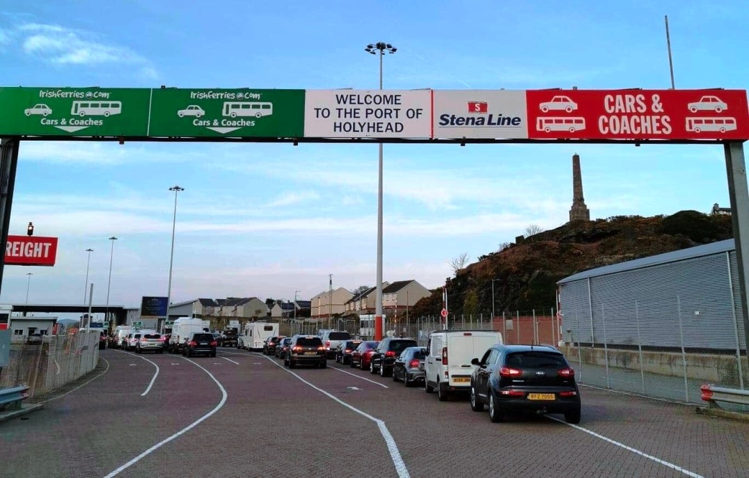 Arriving at Stena Line in Holyhead