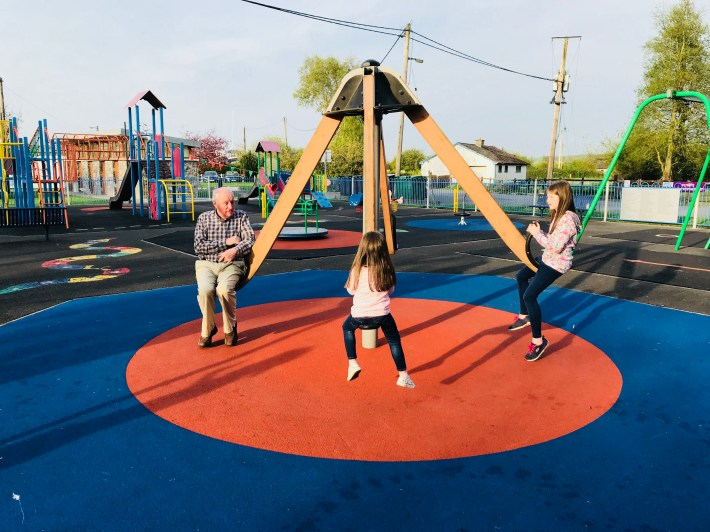 Play park at Banagher harbour on the bank of the River Shannon