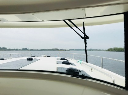 View of the River Shannon from inside the Le Boat Horizon 4
