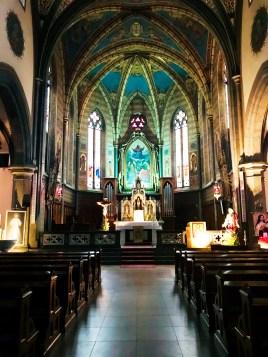 Inside the Church of Predazzo