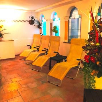 Loungers in the Wellness Spa at Aparthotel Majestic, Predazzo