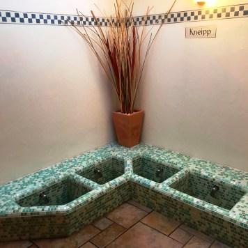 Kneipp Therapy Pools in the Wellness Spa at Aparthotel Majestic, Predazzo