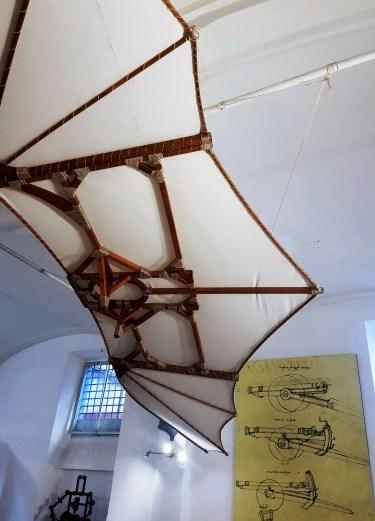 Flying Machine at the Leonardo da Vinci Museum in Florence