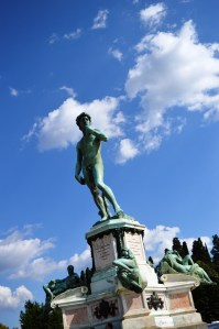 Replica of Michelangelo's most famous statue, David