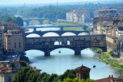 A view of Ponte Vecchio from Piazzale Michelangelo Square