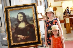 Mona Lisa reproduction at the Leonardo da Vinci Museum, Florence