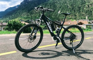 KTM E-bike available for hire in Val di Fiemme