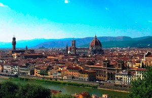 Panoramic View of Florence from Piazzale Michelangelo Square
