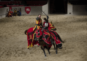 Jousting at a Medieval Castle in Salou, Spain