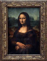 Mona Lisa on display at the Leonardo da Vinci Museum, Florence
