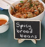 Spicy broad beans