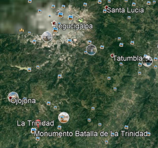 map of honduras battle of trinity valley honduras battle of trinity valley
