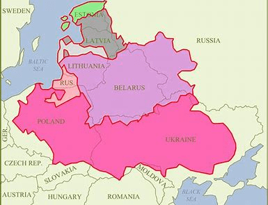 map of 17th century Polish-Lithuanian Commonwealth