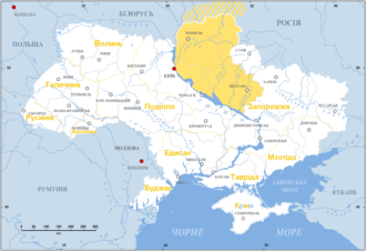 map of Left Bank Ukraine, 17th century