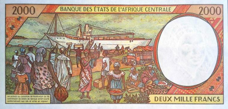 CFA 2000 Franc Banknote Gabon 2000 back (2)