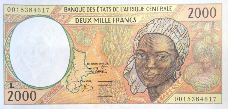 Central African CFA 2000 Franc Banknote Gabon 2000 front
