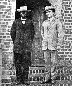 malawi The last known photo of John Chilembwe (left), leader of the uprising, taken in 1914 from wikipedia