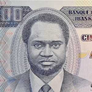 closeup of portrait on of Burundi 500 Franc 1995 banknote front
