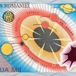 Romania 2000 Leu 2000 banknote front (2), featuring rendering of the solar system