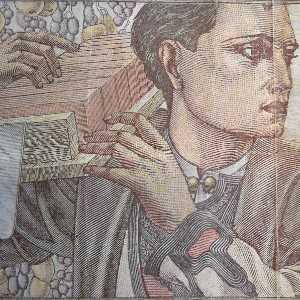 Serbia 500 Dinar 1941 banknote back (3), featuring tradesman bricklayer
